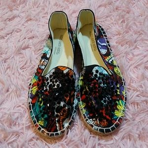 Butterfly embellished jeweled espadrilles dune